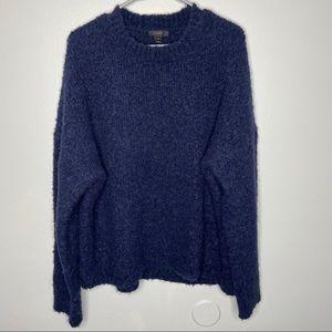 J. Crew Navy Boucle Oversized Sweater Size XL